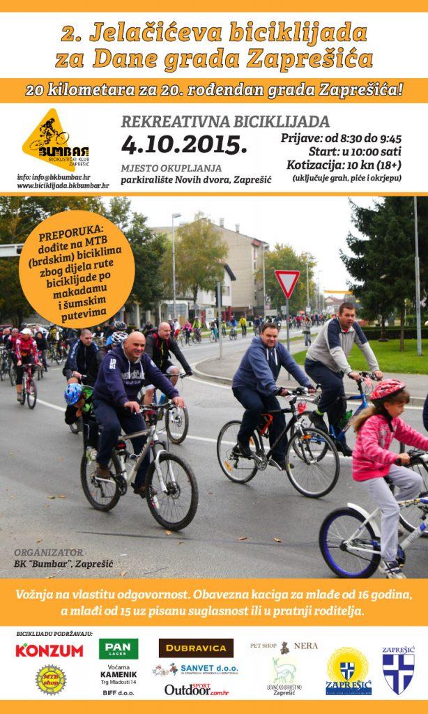 2. Jelačićeva biciklijada za Dane grada Zaprešića - plakat