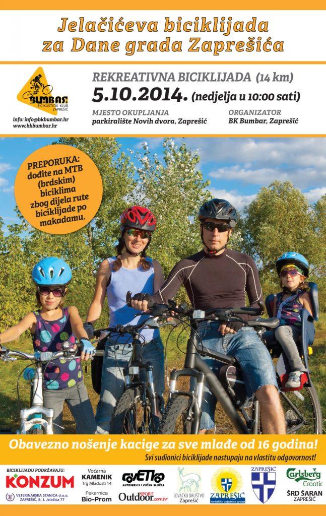 1. Jelačićeva biciklijada za Dane grada Zaprešića - plakat